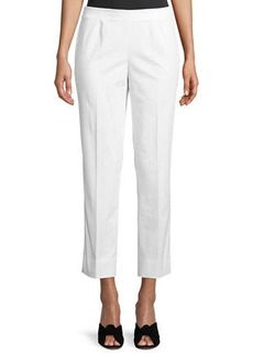 Lafayette 148 Side-Zip Cropped Pants
