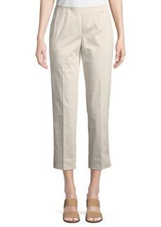 Lafayette 148 Side-Zip Cropped Pants