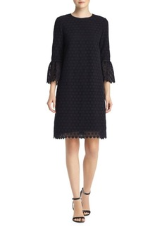 Lafayette 148 Sidra Botanical Bell-Sleeve Dress