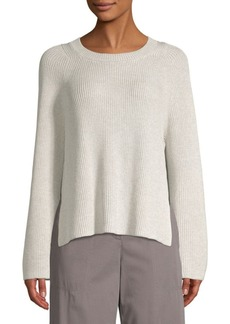 Lafayette 148 Silk-Blend Side Slit Knit Sweater