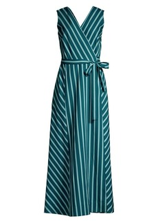 Lafayette 148 Siri Mediterranean Stripe Wrap Dress