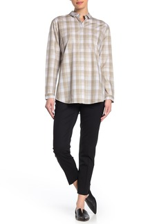 Lafayette 148 Size Zip Cropped Wool Blend Pants