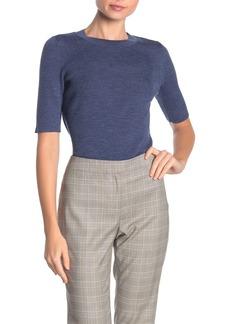 Lafayette 148 Skinny Ribbed Merino Wool Sweater