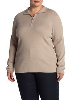 Lafayette 148 Skinny Ribbed Pullover (Plus Size)