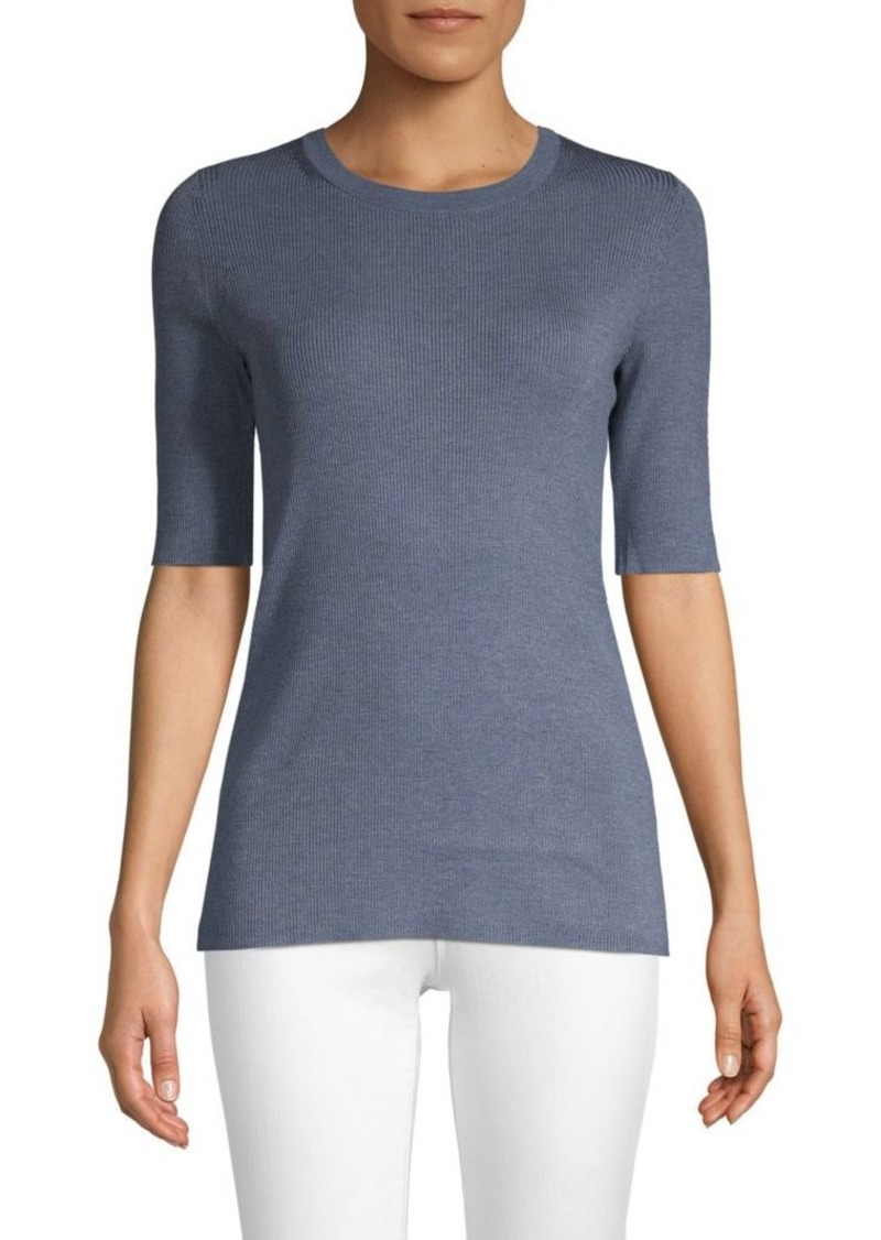 Lafayette 148 Skinny Stretch-Silk Sweater