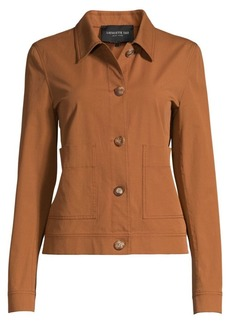 Lafayette 148 Skylar Stretch-Cotton Utility Jacket