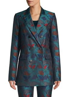 Lafayette 148 Slade Empress Printed Double Breasted Blazer