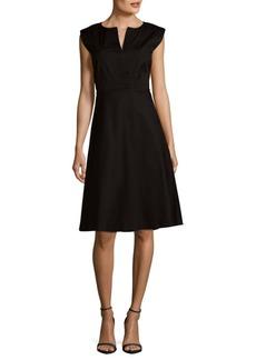 Lafayette 148 Sleeveless A-Line Dress