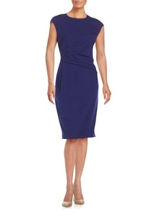 Lafayette 148 Sleeveless Crewneck Cotton Blend Dress