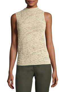 Sleeveless Knitted-Lace Top