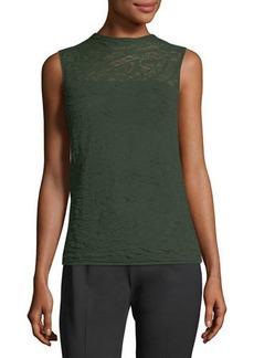 Sleeveless Lace Sweater