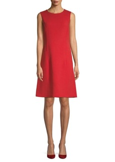 Lafayette 148 Sleeveless Wool A-Line Dress