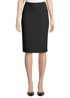 Lafayette 148 Slim Crepe Knee-Length Skirt