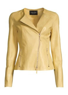 Lafayette 148 Trista Glazed Weightless Lambskin Jacket