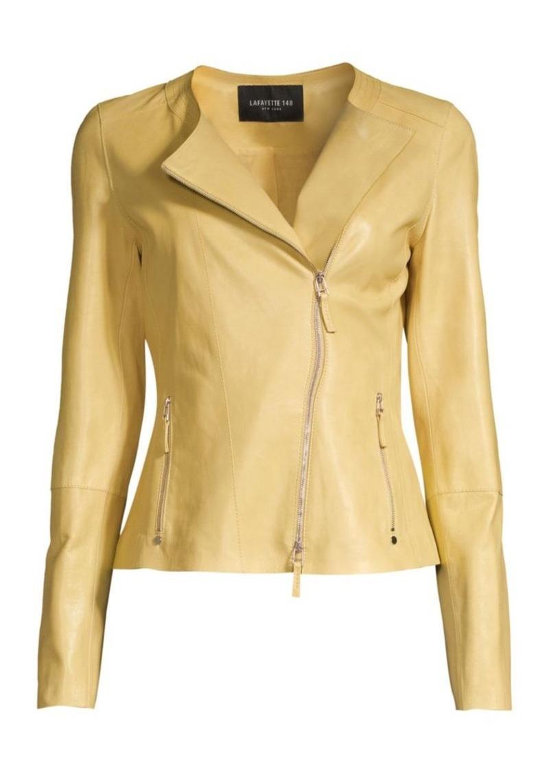 Lafayette 148 Trista Glazed Weightless Lambskin Jacket