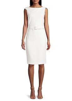 Lafayette 148 Smith Foldover Belted Dress