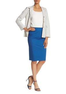 Lafayette 148 Solid Pencil Skirt