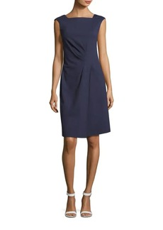 Lafayette 148 Solid Squareneck Sleeveless Dress