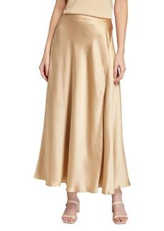 Lafayette 148 Sonoma Luxe Charmeuse Long Skirt