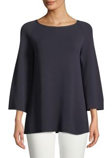 Lafayette 148 Split-Sleeve A-Line Sweater