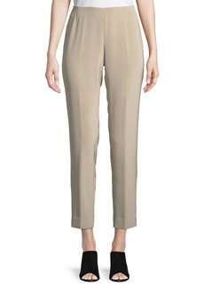 Lafayette 148 Stanton Slim Silk Pants