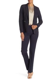 Lafayette 148 Straight Leg Front Zip Pants