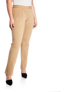 Lafayette 148 Straight-Leg Pull-On Pants  Plus Size