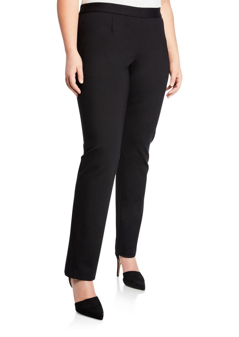 Lafayette 148 Straight-Leg Stretch Crepe Pants  Plus Size