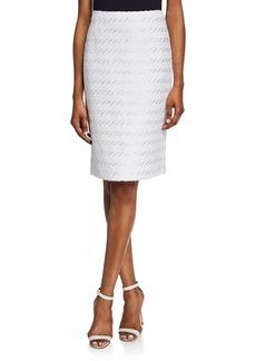 Lafayette 148 Stretch-Cotton Mid-Rise Pencil Skirt