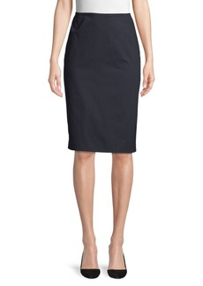 Lafayette 148 Stretch Cotton Pencil Skirt