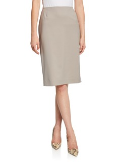 Lafayette 148 Stretch-Wool Pencil Skirt
