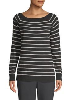 Stripe Raglan-Sleeve Sweater