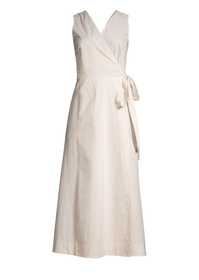 Lafayette 148 Siri Sonata Stripe Wrap Dress