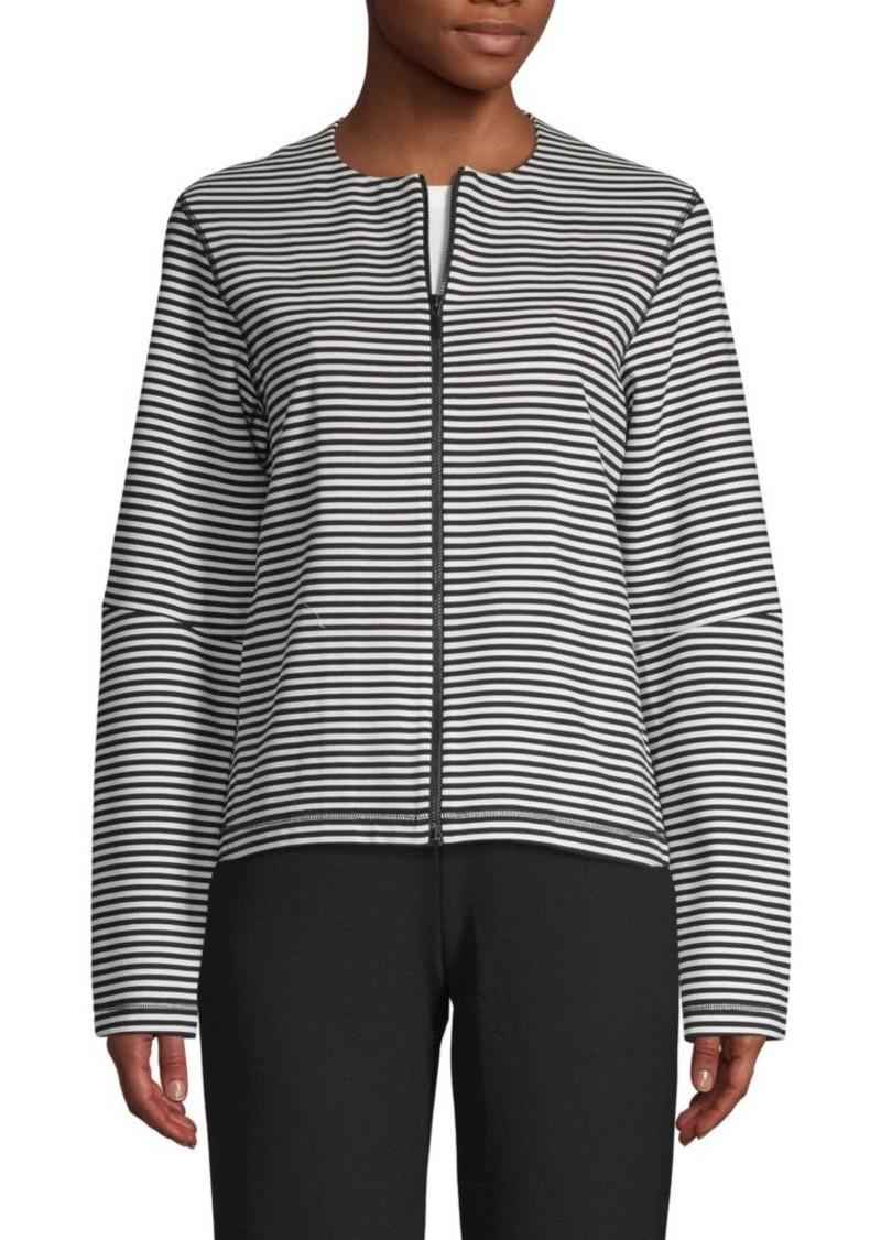 Lafayette 148 Striped Cotton-Blend Jacket
