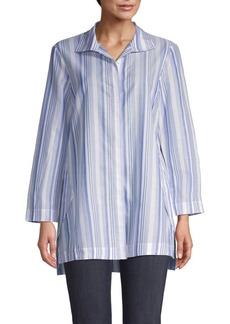 Lafayette 148 Striped Cotton Shirt