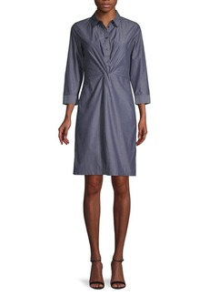Lafayette 148 Striped Cotton Shirtdress