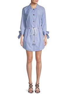 Lafayette 148 Striped Drawstring Shirtdress
