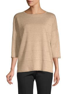 Lafayette 148 Striped Linen Sweater
