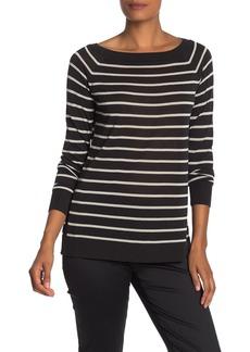 Lafayette 148 Striped Raglan Sweater