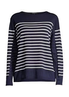 Lafayette 148 Striped Sheer Sweater