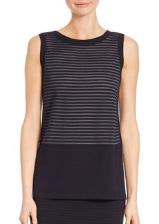 Lafayette 148 Striped Sleeveless Top