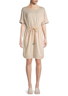 Lafayette 148 Striped T-Shirt Dress