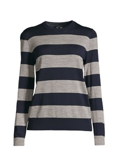 Lafayette 148 Striped Wool Sweater