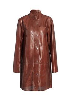 Lafayette 148 Svannah Perforated Leather Jacket