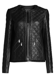 Lafayette 148 Tanner Leather Quilted Jacket
