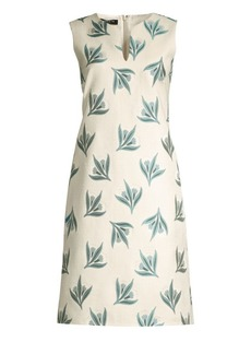 Lafayette 148 Taren Botanical Jacquard Shift Dress