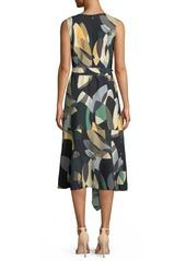 Lafayette 148 Telson Ornamental Mosaic Dress