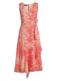 Lafayette 148 Telson Spotted Silk Dress