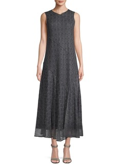 Lafayette 148 Textured A-Line Dress