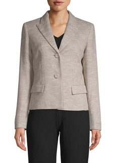 Lafayette 148 Textured Cotton Blend Blazer